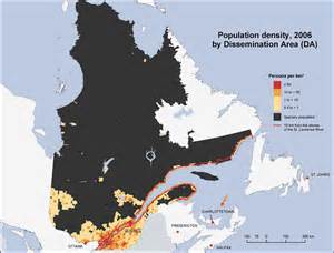 population density map canada population density qu 233 bec 2006