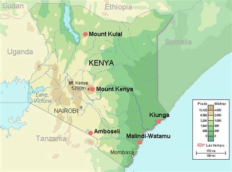 africa map kenya kenia geographischen karte
