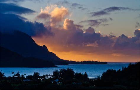 hawaii landscape hawaiian landscapes hanalei bay sunset christopher