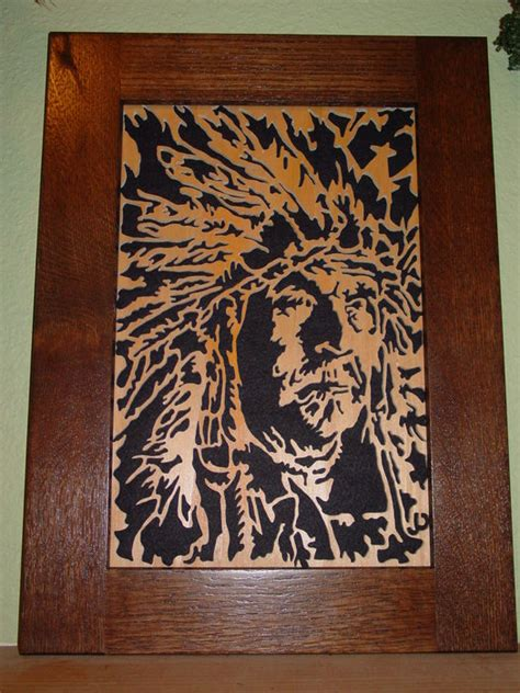 indian chief scroll  portrait  pete jansen