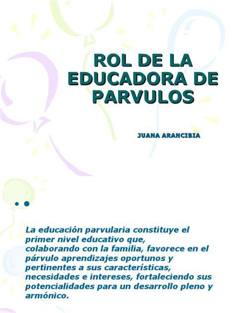 Modelo Curricular Junji Rol De La Educadora De Parvulos 1