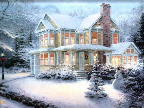 1940 Homes Interior by Christmas Art 05 Christmas Winter Scenes