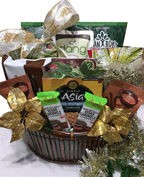 vegan gift basket meals and snacks on the go vegetarian