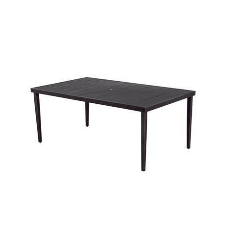 hton bay marshall rectangular patio dining table