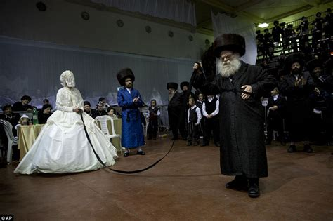 Ultra orthodox jewish wedding in israel sees thousands of guests gather together daily mail online