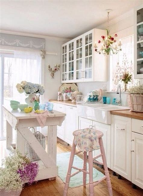 shabby chic kitchen island shabby chic kitchen island and pale pink hign stools my