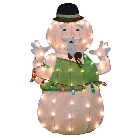 tis  season sam  snowman    tinsel outdoor