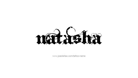 natasha name tattoo designs