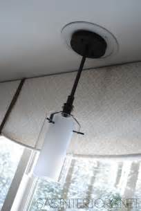 how to change a light fixture in a bathroom easily change a recessed light to a decorative hanging