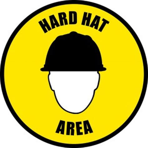 printable hard hat area sign construction safety signs creative safety blog clipart