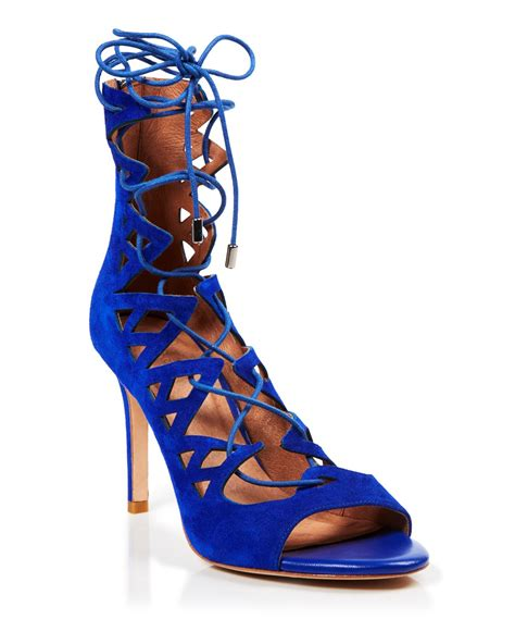 lace up high heel sandals joie sandals quin lace up high heel in blue indigo