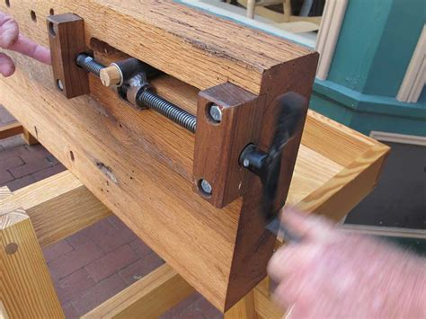 homemade bench vise plans will myers moravian workbench lost art press