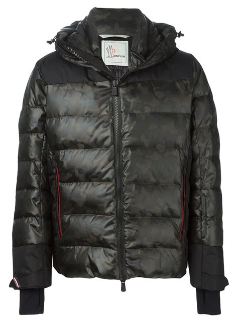 Camo Padded Jacket moncler grenoble camouflage print padded jacket in green