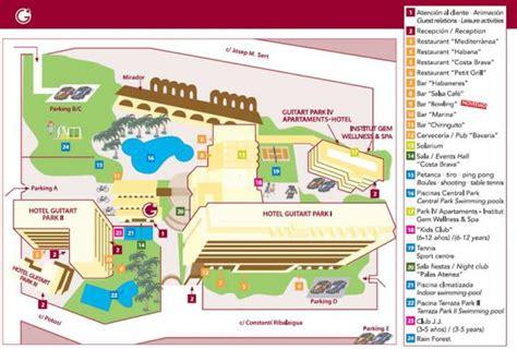 central park bathroom map guitart central park resort spa 3 lloret de mar spain