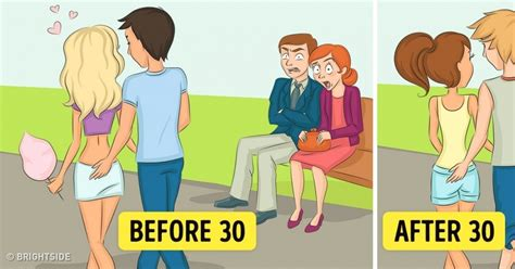 A Before what looks like before and after you turn 30