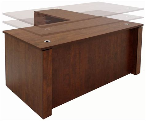 l shaped adjustable desk adjustable height executive office desk in cherry