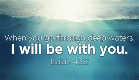 with you you will not drown because god is with you inspirations