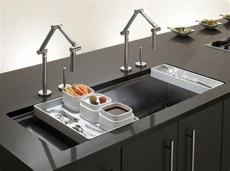 designer kitchen sink modern kitchen sink materials and design ideas