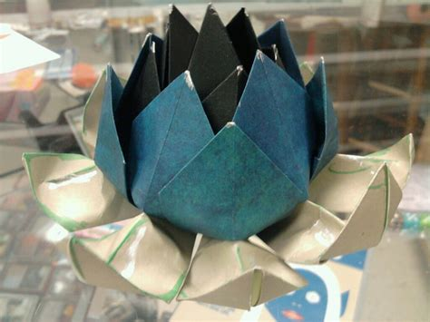 Origami Black Lotus - black lotus origami by melissajp on deviantart