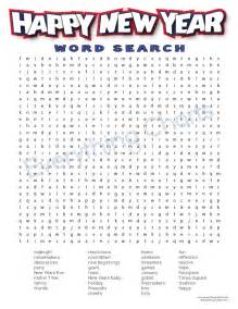 happy new year word search printable www pavingmaze com