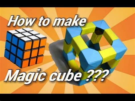 How To Make Cuboid With Paper - how to make a magic cube origami