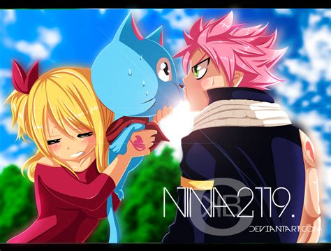 lucy and happy natsu kiss ft special 378 5 by nina2119 on