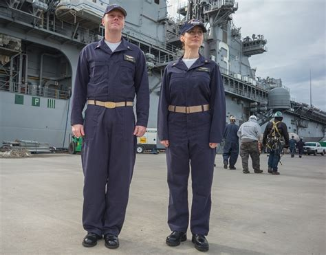 Dress Elizab Brkt Navy A34 the navy is rolling out new coveralls finally