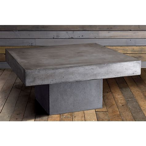 cb2 concrete coffee table element coffee table