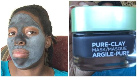 L Oreal Clay Mask l oreal charcoal clay mask review