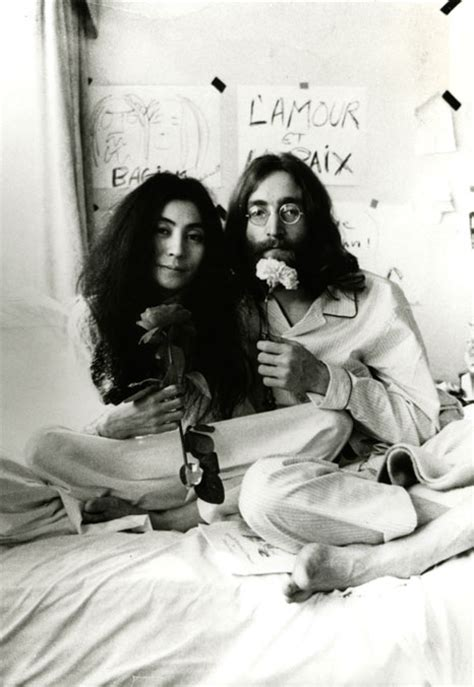john lennon bed in epic portraits of epic people supercyan