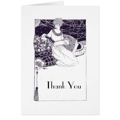 deco greeting cards templates vintage 1920 deco thank you card template zazzle
