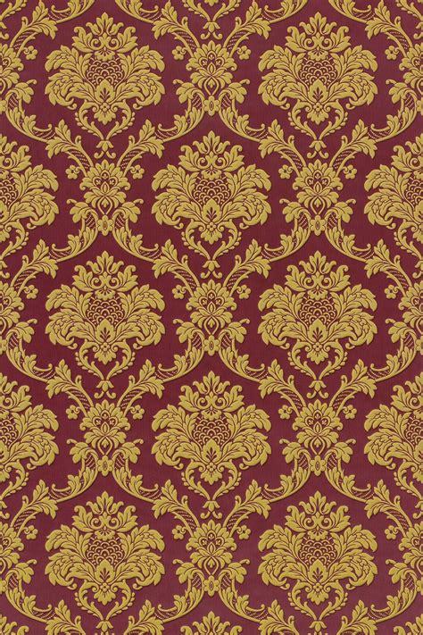 Living Room Wallpaper Design - tapete barock rasch trianon rot gold 505368