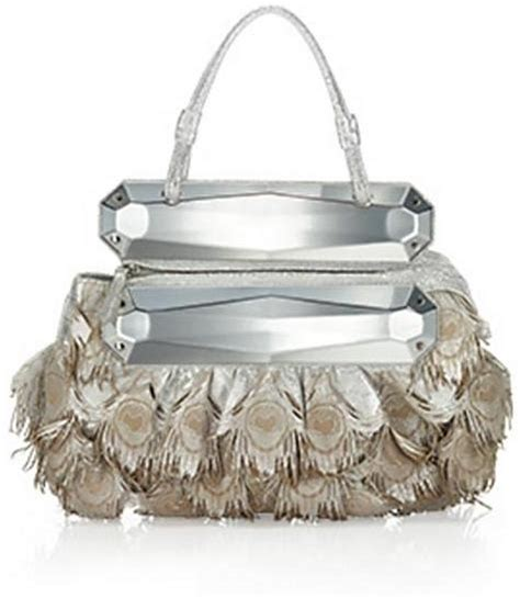 Fendi Peacock Evening To You Bag by Trend Alert Feathers Popsugar Fashion