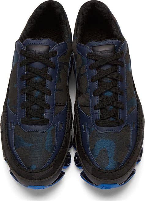 raf simons tennis shoes raf simons blue black adidas edition bounce sneakers shoes