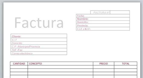 ejemplo de factura en word aqu 237 tienes 20 plantillas para hacer facturas en word