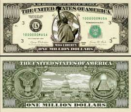 the original million dollar miss liberty bill 25 ea