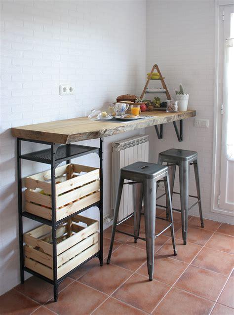 diy barra de madera raw  nuestra cocina decorar en familia def deco