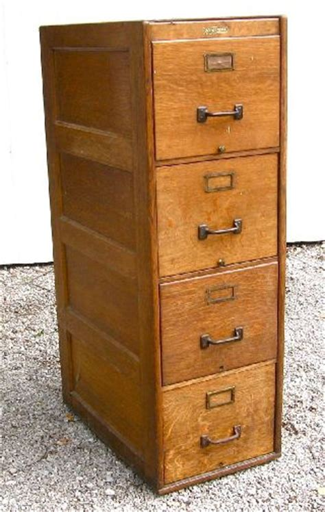 Antique Wood File Cabinet   Home Furniture Design