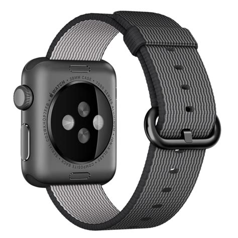 Woven For Apple by For Apple 38mm Woven Watchband Black Alex Nld