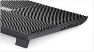 Deepcool Multicore X8 4 Fan Aluminium Panel Coolpad Black deepcool multi x8 laptop cooling pad 17 quot