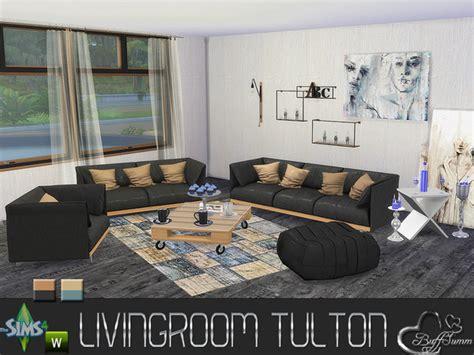 Sims 2 Living Room by Buffsumm S Livingroom Tulton Set