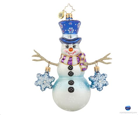1017649 christopher radko snowflake cascade christmas ornament