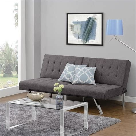 Dhp Emily Futon by Emily Convertible Linen Futon In Gray 2007429