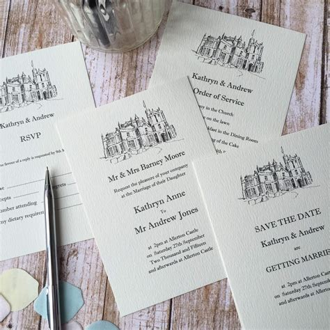 wedding invitation venue wording illustrated wedding venue invitations wagtail designs