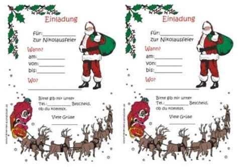 Muster Einladung Nikolausfeier Vorlagen Einladungen Vorlagen Einladungen Ausmalen Ausmalbilder