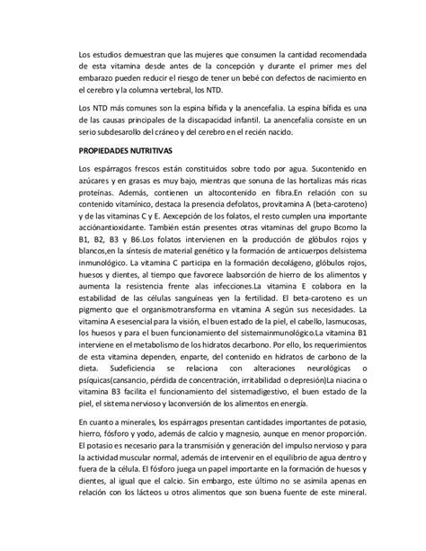 DIFUSIÓN DE LA IMPORTANCIA DEL CONSUMO DEL ESPARRAGO EN EL