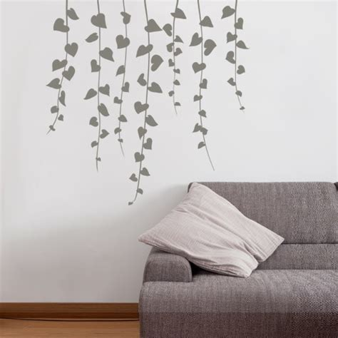 wall sticker wall decal waterfall vine nature vinyl wall stickers coolwallart