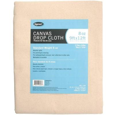 sigman 8 ft 6 in x 11 ft 6 in 8 oz canvas drop cloth