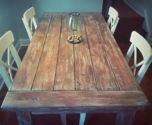 Dining Table Farmhouse Style Weathered Rustic Farmhouse Style Dining Table