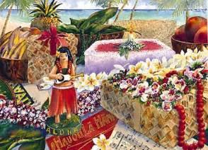 hawaiian happy birthday greeting card birthday